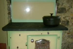 All meals are cooked on Fiona wood burning stove